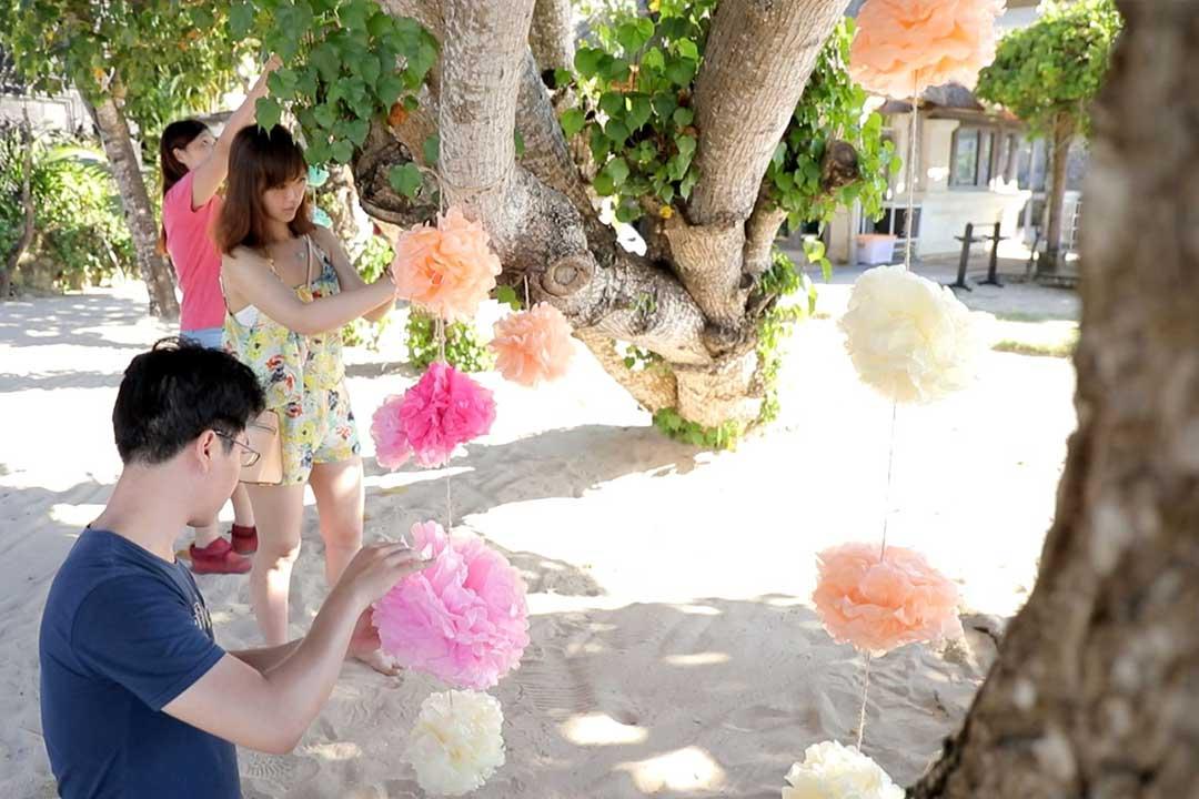 紙花球佈置