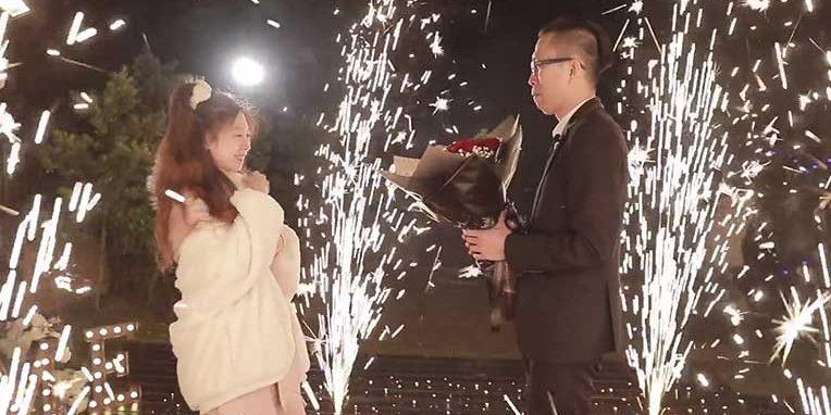 浪漫煙火求婚