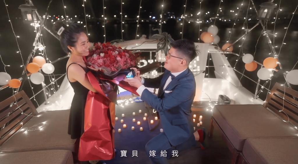 驚喜海上遊艇求婚
